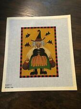New ListingMelissa Shirley Hand Painted Witch Needlepoint Canvas 18 count