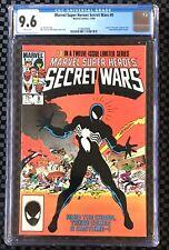MARVEL SUPER HEROES SECRET WARS #8 CGC 9.6 WHITE PAGES ORIGIN OF VENOM SYMBIOTE!