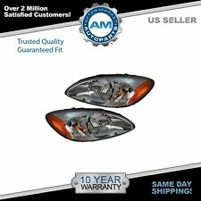 Headlights Headlamps Left & Right Pair Set NEW for 00-07 Ford Taurus