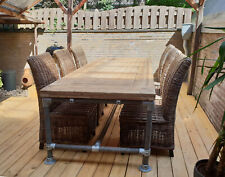 """Moderne Tisch """"Toskana"""" in Industrie Stil Massive Esstisch Gerüst Holz Loft"""