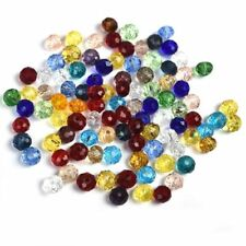 Colorful 100Pcs/Pack Glass Crystal Loose Spacer Beads 4*6mm DIY Jewelry Beads