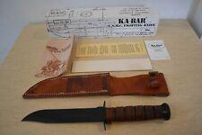 NIB 1990 Vintage KA-BAR U.S.M.C. # 1217 Marine Corps Combat Fighting Knife