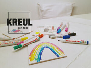 KREUL Porcelain Pen easy, Porzellanfarbe Porzellanmalstifte für Kinder, neu