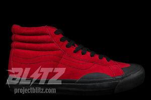 VANS OG SK8-HI LX GOSHA BLACK RED RUBBER Sizes 7.5-11.5 Rubchinskiy wtaps