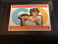 1960 Topps Set Break #555 Nellie Fox  AS NR-MINT MINT short print HI # psa 8?