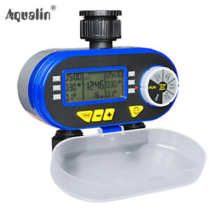 Garden LCD Hose Irrigation Water Timer Sprinkler System with Rain Delay Feature