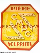 Scarce France CMPC Nourrices Biere Tavern Trove French Beer Label