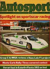 Autosport 31 Jan 1985 - Sportscar Racing, Beatrice F1, Ford Fiesta XR2, Ferrari