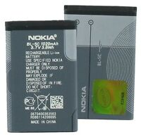 NEW NOKIA BL-5C OEM CELL BATTERY 2300 2600 2610 3100 6085 6086 6230 6270 N70