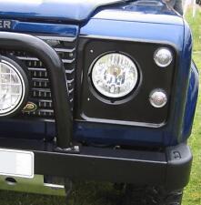 "Halogen Crystal headlamps for Land Rover Defender head lights H4 round 7"" 90 110"