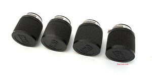 UNI Motorcycle Foam Air Filter Pod Set - Honda CB350F CB400F - 35mm - PK-4