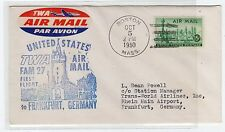 USA: 1950 FIRST FLIGHT COVER TO GERMANY (C22516)