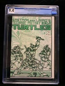 TEENAGE MUTANT NINJA TURTLES 1985 MIRAGE STUDIO  #4 CGC 9.4 (W/P) NEW CASE!
