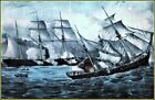 Currier & Ives |  U.S. Sloop of War Kearsarge 7 Guns, Sinking  Pirate  Art Print