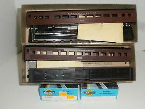 2 HO Athearn Pennsylvania Stream Line Coach Passenger Car Kits, Diff. #'s, NIB