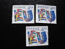 SUEDE - timbre yvert et tellier n° 1862 x3 obl (A29) stamp sweden