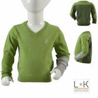 Maglioncino in Misto lana Verde con Scollo a V Neonato Jeckerson 6MWB84