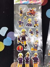 Fireman Sam sticker sheets buy 5 get 5 free stickers birthday party  lolly bags