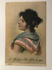Vintage Postcard - # M 1043/2 - New Years Greetings - Posted 1906