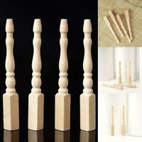 4PCS Cabriole table legs dollhouse miniature 1/12 scale wood A2H4 E7M9