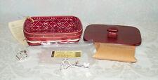 Longaberger 2011 Sweetheart Key to My Heart Basket Combo Complete 6 piece Set.