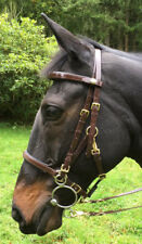 Perfeq Padded Brow & Nose 2 part Bridle Gloss Brown - Cob Size
