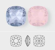 12mm | Square Cushion Cut | Swarovski Article 4470 | 3 Pieces - Choose Color