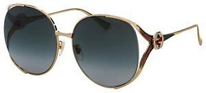 Gucci Sunglasses GG0225S 001 Gold, MultiColor | Grey Gradient Lens