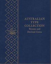 6 Australian Bronze & Decimal Coins Type Collection Whitman Albums LOT NOS
