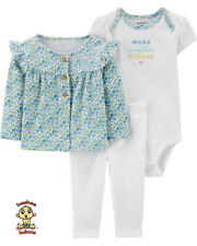 Carter's 3-piece Cardigan Set 6 months Authentic & Brand New