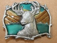 1995 GAP #4223 Great American CO deer buck hunting HUGE  antlers -  belt buckle