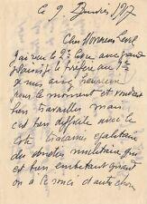 André DERAIN / Lettre autographe signée à Level. Sa peinture et ses expositions