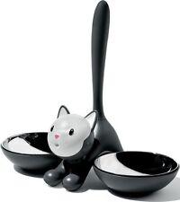 A di Alessi - AMMI09 B - Tigrito, Cat bowl - Black