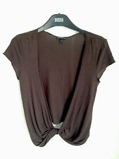 Ladies Marks And Spencer Limited Collection Short Brown Wrap Top/Shrug - Size 8