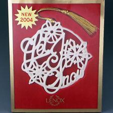 Lenox China Let It Snow 2004 Songs of Christmas Tree Holiday Ornament Mib