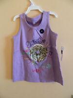 "NWT baby Gap girl sleeveless purple tank top w/doughnut and ""sweet"" etc.; sz 3T"