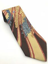 Vintage 70's Haulinetrigere Marshall Field & Co. Patterned Brown Tie