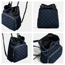 ZARA BRAND NEW Navy BLUE QUILTED BACKPACK BAG. SOLD OUT IN STORES AND ONLINE