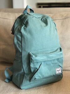 Herschel Cotton Casuals Daypack Backpack Zip Oil Blue School Travel Unisex New
