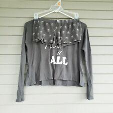 Wildfox Gray & White I Want It All Pajama Set Size XS