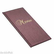 MENU HOLDER 1/2 A4 SIZE RESTAURANT PUB HOTEL CATTERING COFFEE BAR SHOP ECO RED