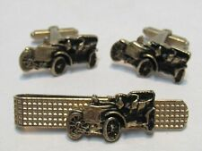 VINTAGE MODEL A MODEL T CUFF LINKS & MONEY CLIP SUPER COOL GREAT CONDITION