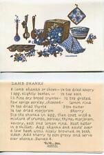 VINTAGE KITCHEN BLUEBERRIES LAMB CHOPS RECIPE 1 CHRISTMAS SANTA BIRDHOUSES CARD