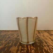 Vintage Italian Murano Glass White and Gold Toothpick or Match Holder