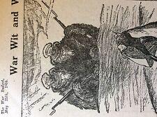 m5-1a ephemera ww1 1916 cartoon the two headed russian bear philadelphia ledger