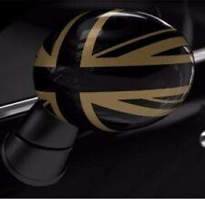 Genuine MINI Mirror caps F55/56/54/57 Gold Jack PAIR 51162409448&51142354921 UK