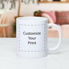 Coffee mug personalized Custom Photo Text Logo Name PrintedGiftCeramic white cup