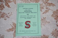Large Deluxe-edition Instructions Manual for SINGER 66 Sewing Machine