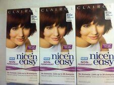 (3) Clairol Nice'n Easy Hair Color - Deep Mahogany Auburn/815R Like Loving Care