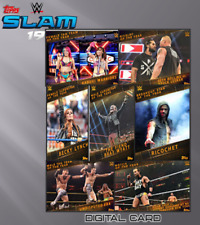 2019 END OF THE YEAR AWARDS SET OF 7 CARDS Topps WWE Slam Digital